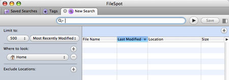 FileSpot default window